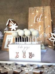 Battesimo tema natalizio cake pops palla di neve