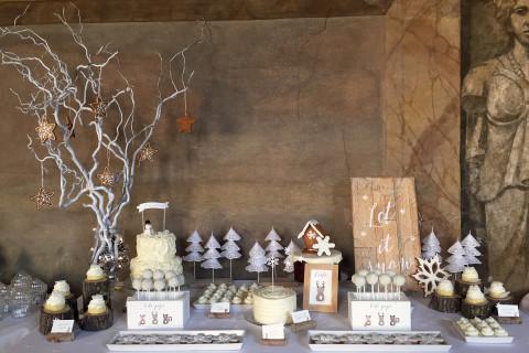 Battesimo tema natalizio tavola invernale let it snow
