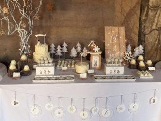 Battesimo tema natalizio tavola invernale