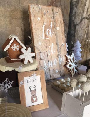 Battesimo tema natalizio torta pan di zenzero