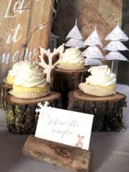 Battesimo tema natalizio cupcake alla vaniglia