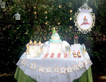 battesimo piccolo principe dessert table