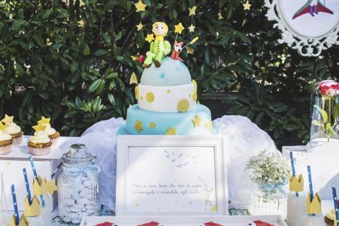 battesimo piccolo principe torta a piani