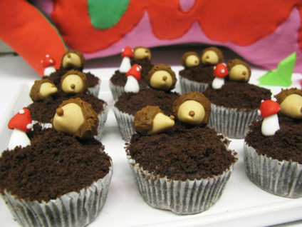 festa tema bosco incantato cupcakes ricci