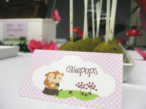 festa tema bosco incantato cakepops