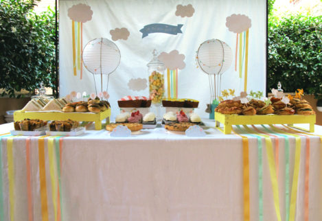 Battesimo tema mongolfiera sweet table