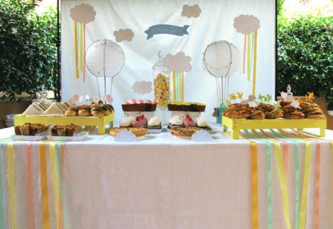 Battesimo tema mongolfiera sweet table