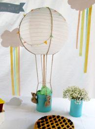 Battesimo tema mongolfiera decorazioni handmade
