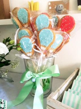Battesimo tema mongolfiera biscotti bomboniera