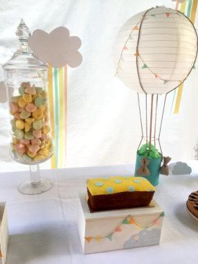 Battesimo tema mongolfiera plumcake decorati