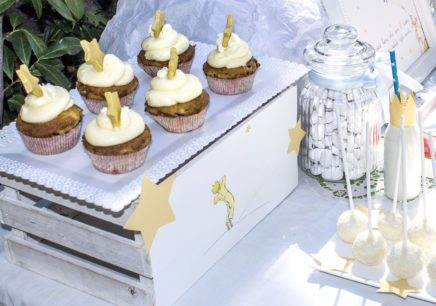 battesimo piccolo principe cupcake stella