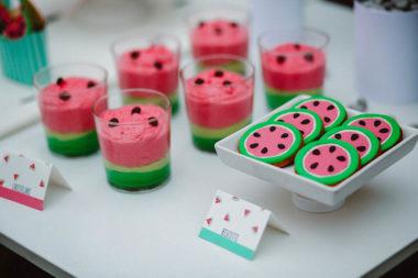 watermelon party festa tema angurie mousse al cioccolato