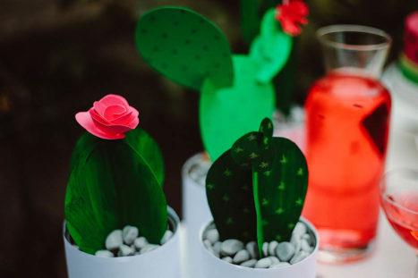 watermelon party festa tema angurie cactus di carta