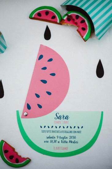 watermelon party festa tema angurie invito