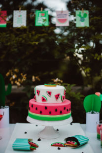 watermelon party festa tema angurie torta piani