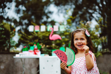 watermelon party festa tema angurie bambina sorriso