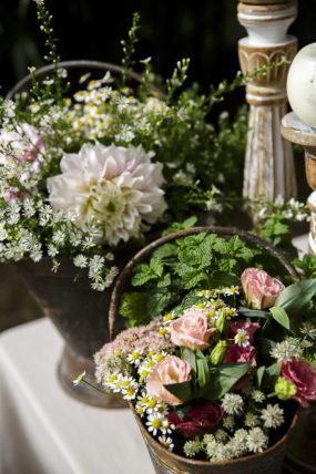 rustic chic ceste di fiori