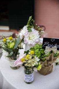 rustic chic erbe aromatiche origano tavolo sposi basilico