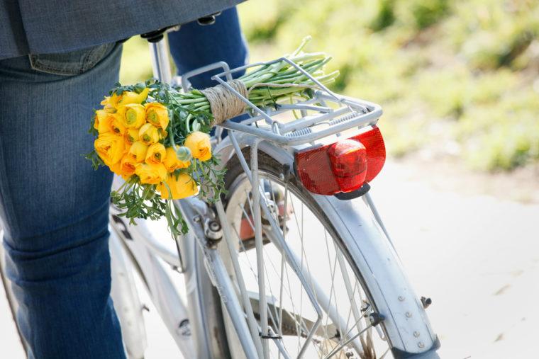 love session passeggiando in bicicletta