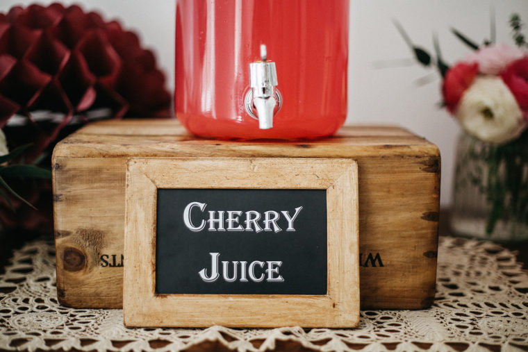 Dessert table ciliegie dispenser per succo