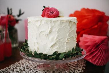 Dessert table ciliegie alzata torta