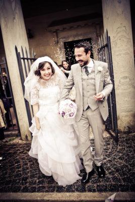 matrimonio vintage uscita degli sposi