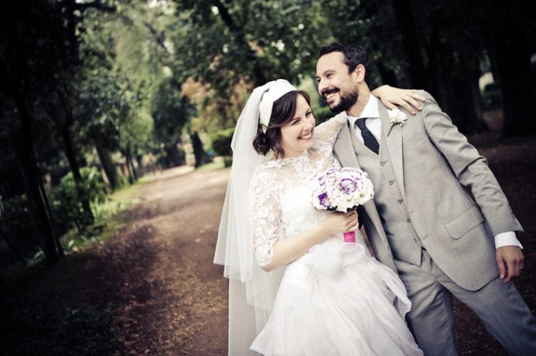 matrimonio vintage sposi villa borghese