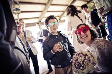 matrimonio vintage occhiali photobooth sposa