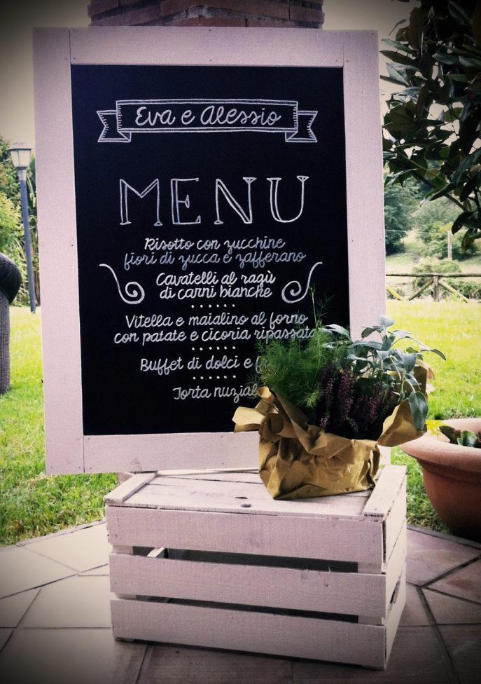matrimonio vintage menu lavagna fatto a mano