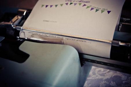 matrimonio vintage guestbook macchina da scrivere dettaglio