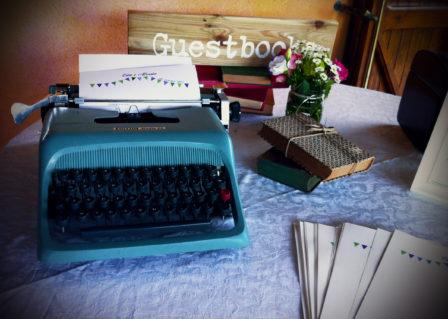 matrimonio vintage guestbook macchina da scrivere