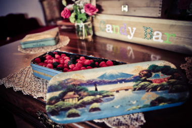 matrimonio vintage candy bar scatole di latta