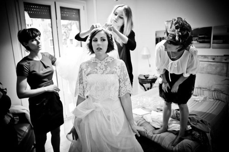 matrimonio vintage preparazione sposa