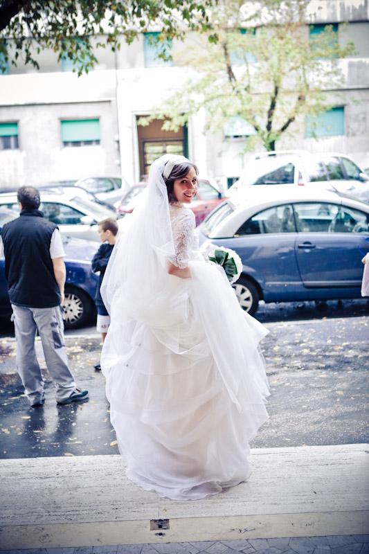 matrimonio vintage uscita della sposa