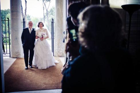 matrimonio vintage arrivo della sposa