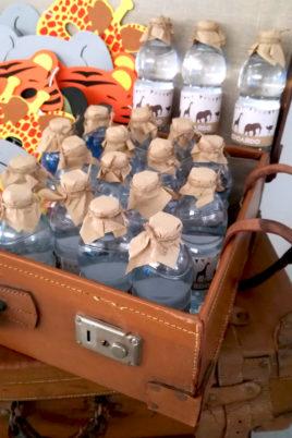 safari party bottiglie e maschere