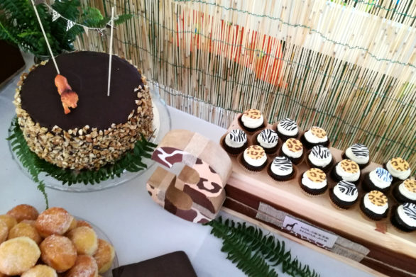 safari party cupcakes