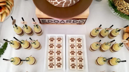 safari party biscotti impronta
