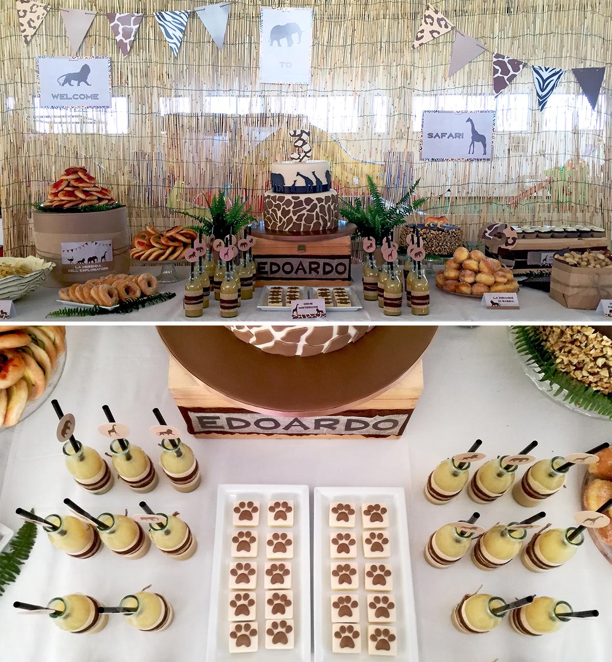 safari party tavolo insieme