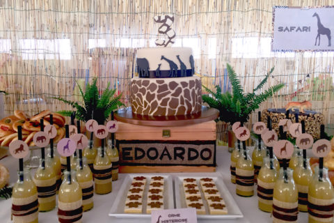 safari party tavolo dettaglio