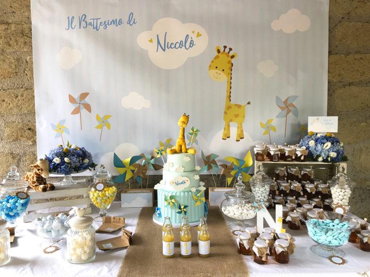 battesimo-a-tema-giraffa-tavola-allestita