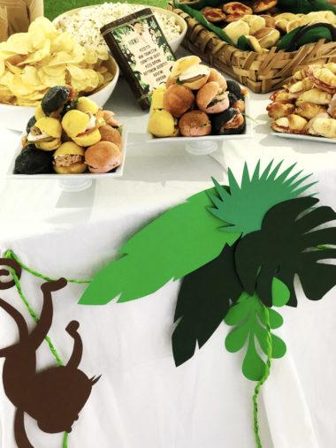 tarzan-party-decorazioni-tavolo-salato