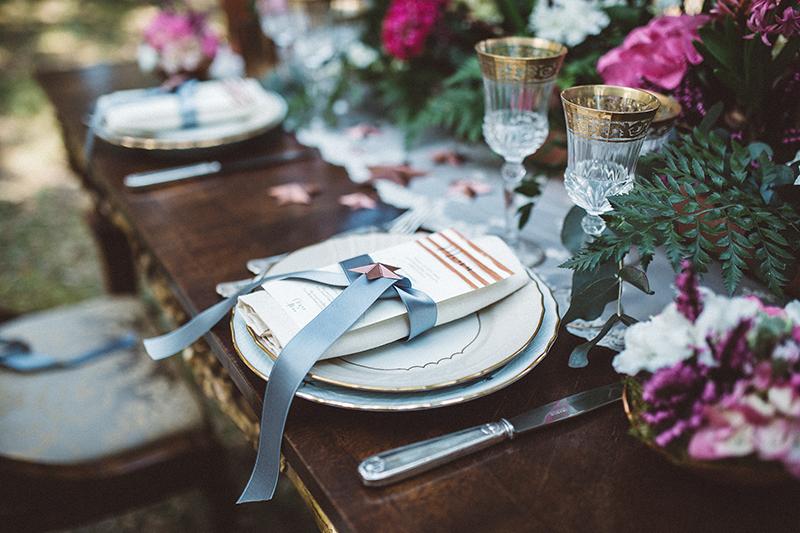 Mise en place matrimonio intimo