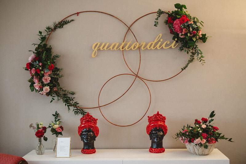 matrimonio intimo backdrop cerimonia in casa