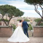 coppia sposi con vista su Roma